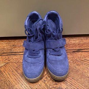 Ash Suede Cobalt Blue Sneaker Wedge 39